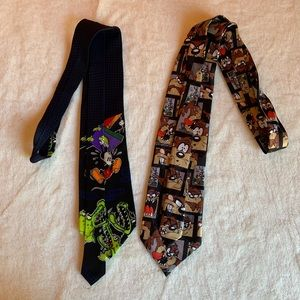 Other - Vintage Looney Tunes & Disney Ties